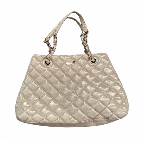Kate Spade Gold Quilted Purse